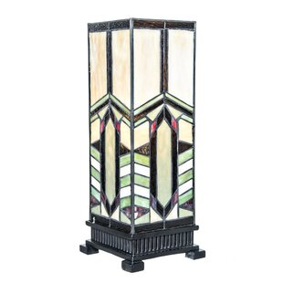Southwestern style lamps wayfair craver pillar stained glass mission style 1725 table lamp aloadofball Gallery