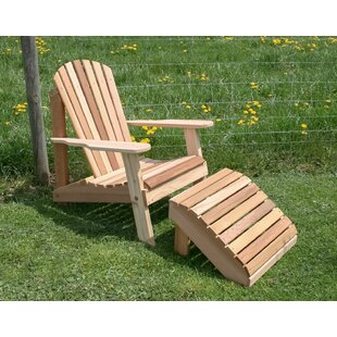 Andres Adirondack Chair with Ottoman
