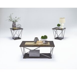 Siri 3 Piece Coffee Table with Storage by Wrought Studio