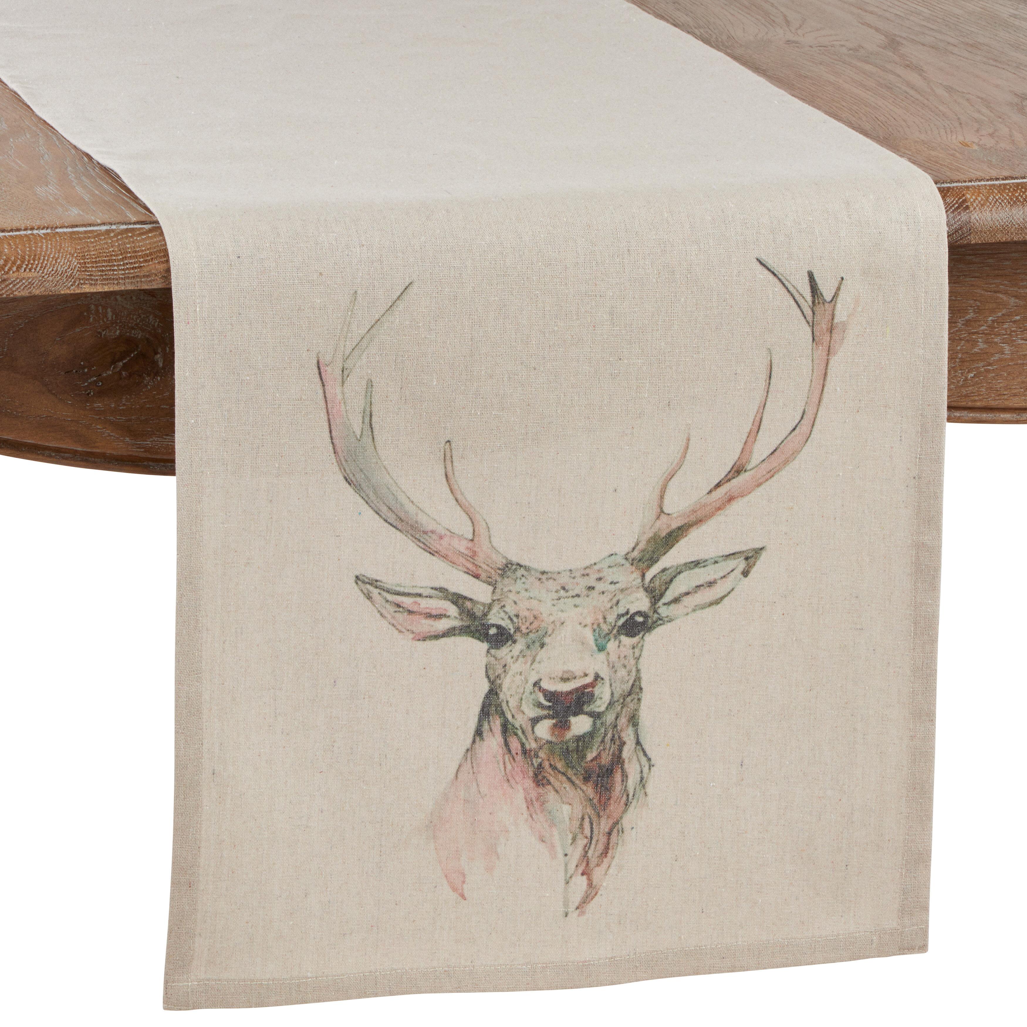 Millwood Pines Aberdash Deer Table Runner Wayfair