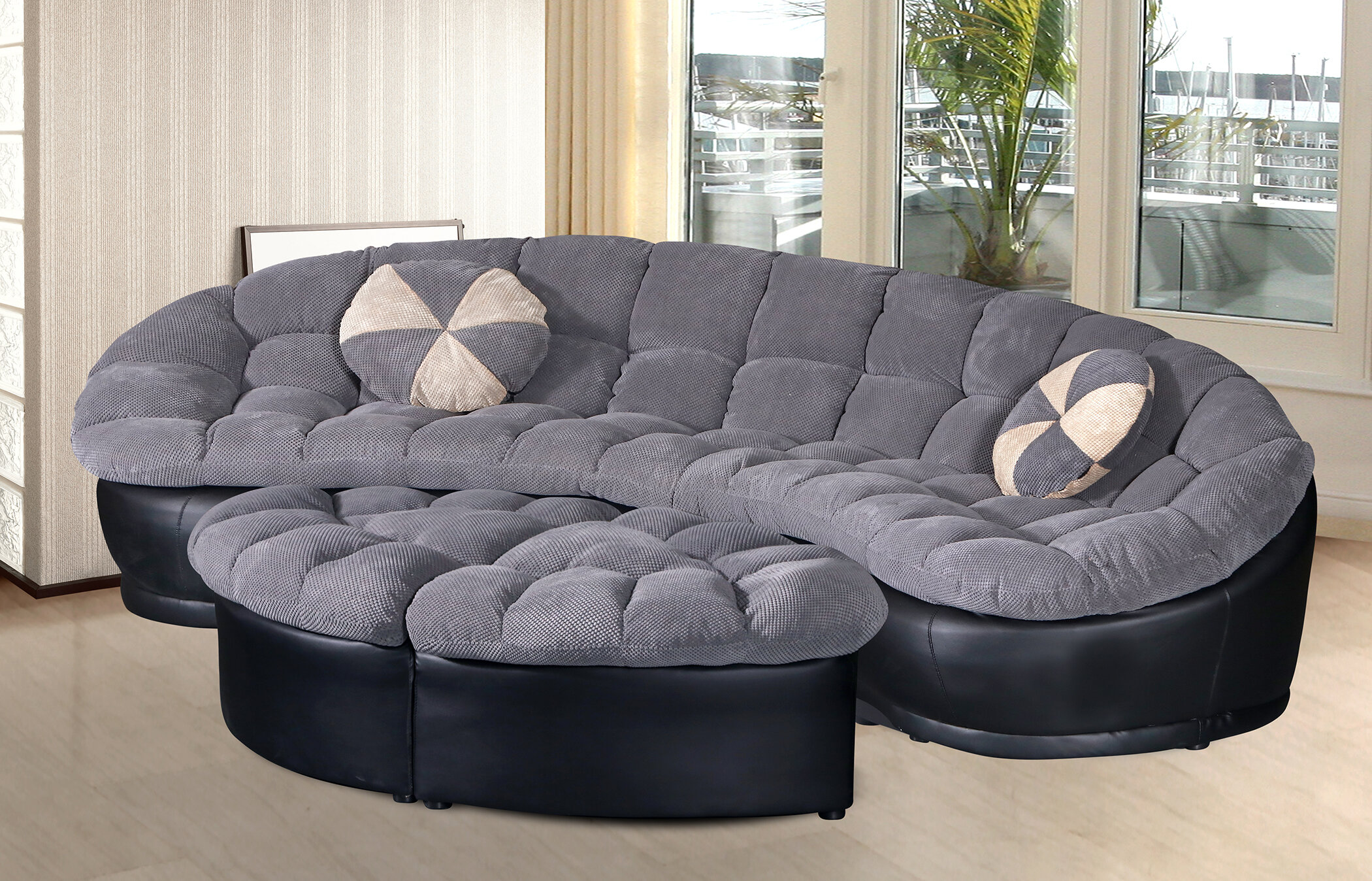 Fine Ilyas Living Room Symmetrical Sectional With Ottoman Ibusinesslaw Wood Chair Design Ideas Ibusinesslaworg