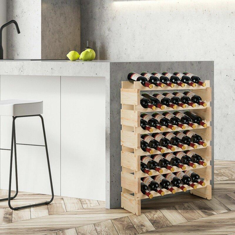 Rebrilliant Barger 36 Bottle Floor Wine Bottle Rack