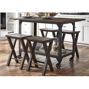 Marra Rustic 5 Piece Kitchen Island Set by Trent Austin Design