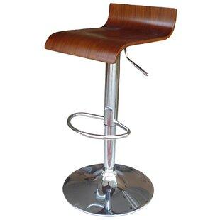 Zielinski Adjustable Height Bar Stool (Se..