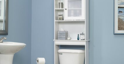 Chrome White Bathroom Storage
