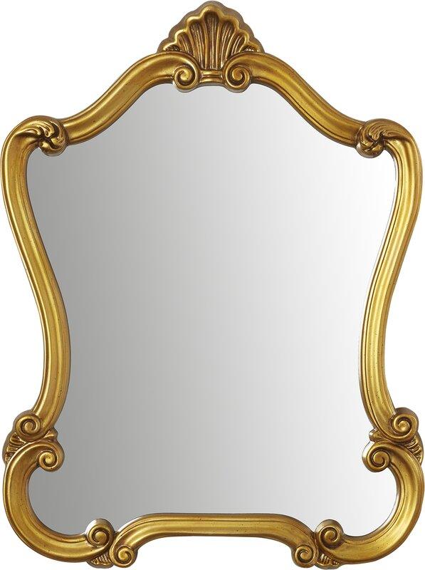 Romero Accent Mirror #goldaccentmirror #ornatemirror