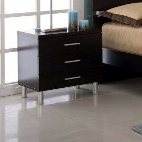 Latitude Run Liverpool 3 Drawer Nightstand