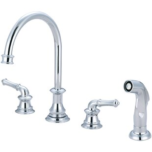 Pioneer Del Mar Double Handle Kitchen Faucet with Side Spray
