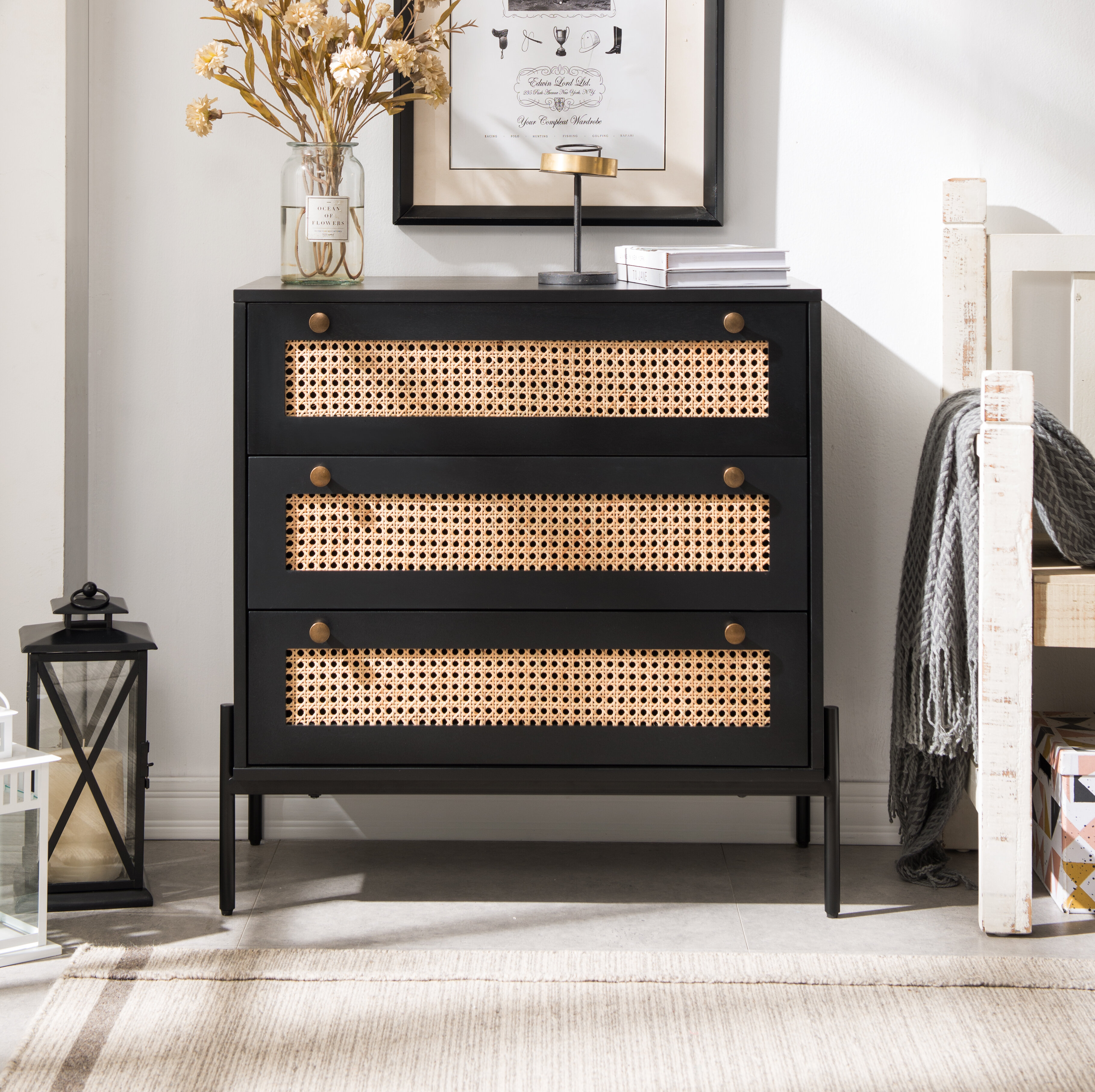 Bay Isle Home Sigmund 3 Drawer Accent Chest & Reviews | Wayfair