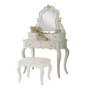 Saffold Vanity Set with Mirror by Harriet Bee