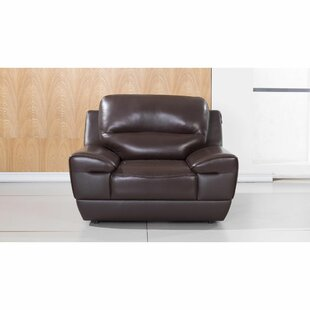 Langworthy Leatherette Upholstered Wooden Armchair by Latitude Run