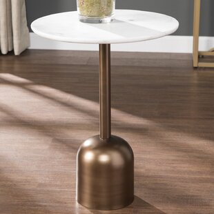 Laila Marble-Top End Table by Mercer41