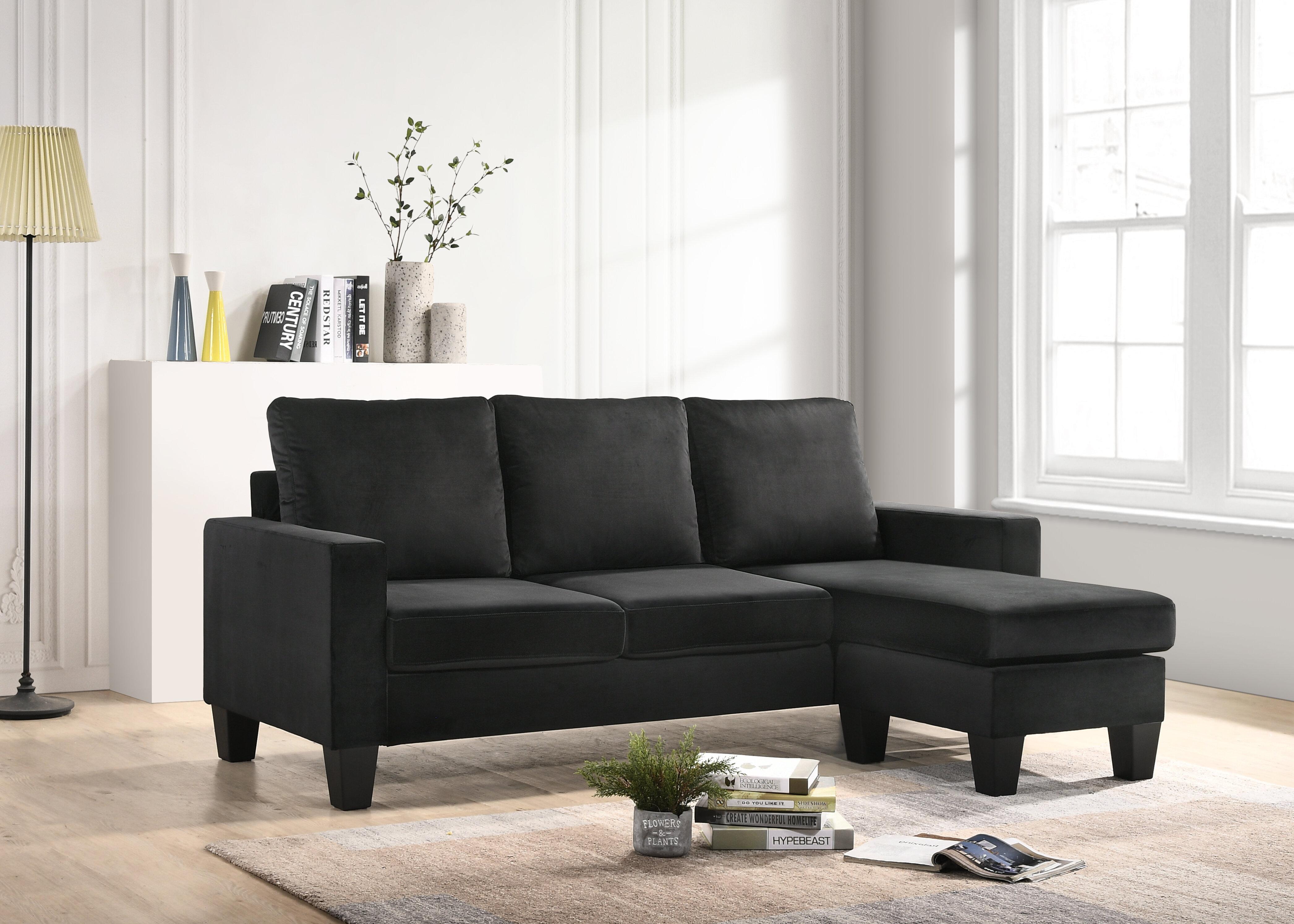 Admirable Bolt Furniture Jessica Reversible Sectional Wayfair Machost Co Dining Chair Design Ideas Machostcouk