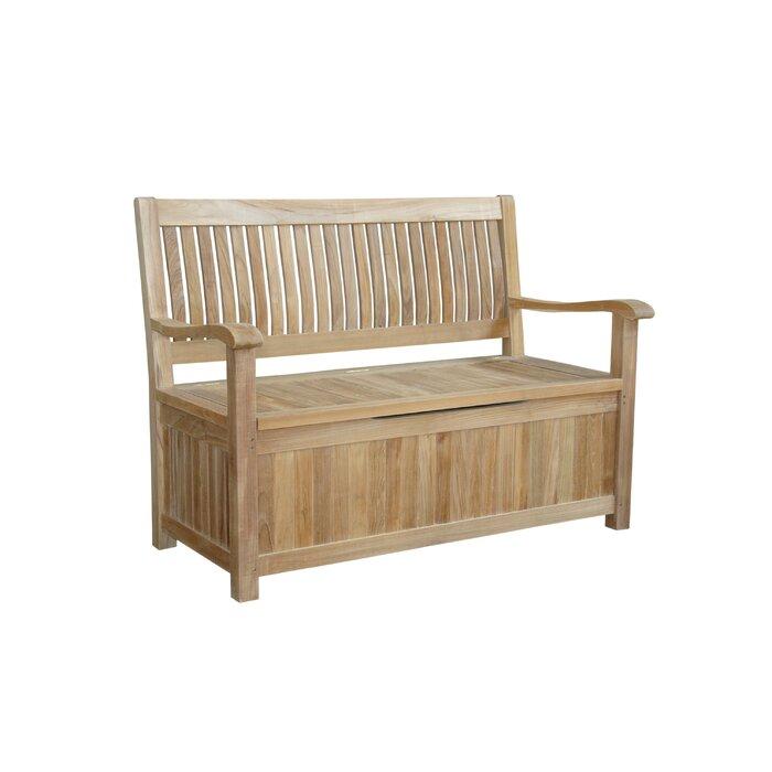 Stupendous Del Amo Teak Storage Bench Inzonedesignstudio Interior Chair Design Inzonedesignstudiocom
