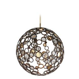 Canales 1-Light LED Globe Pendant by Brayden Studio