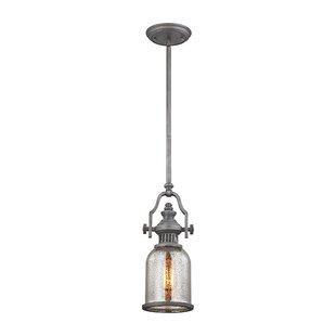 Roa 1-Light Bell Pendant by Breakwater Bay