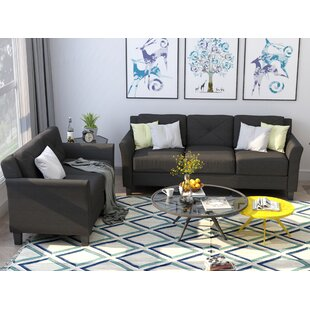 Chojolan Button Tufted 2 Piece Living Room Set with Cushion by Red Barrel Studio