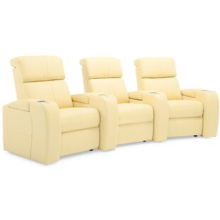 Corbett Curved Home Theater Sofa (Row Of 3) By Palliser Furniture