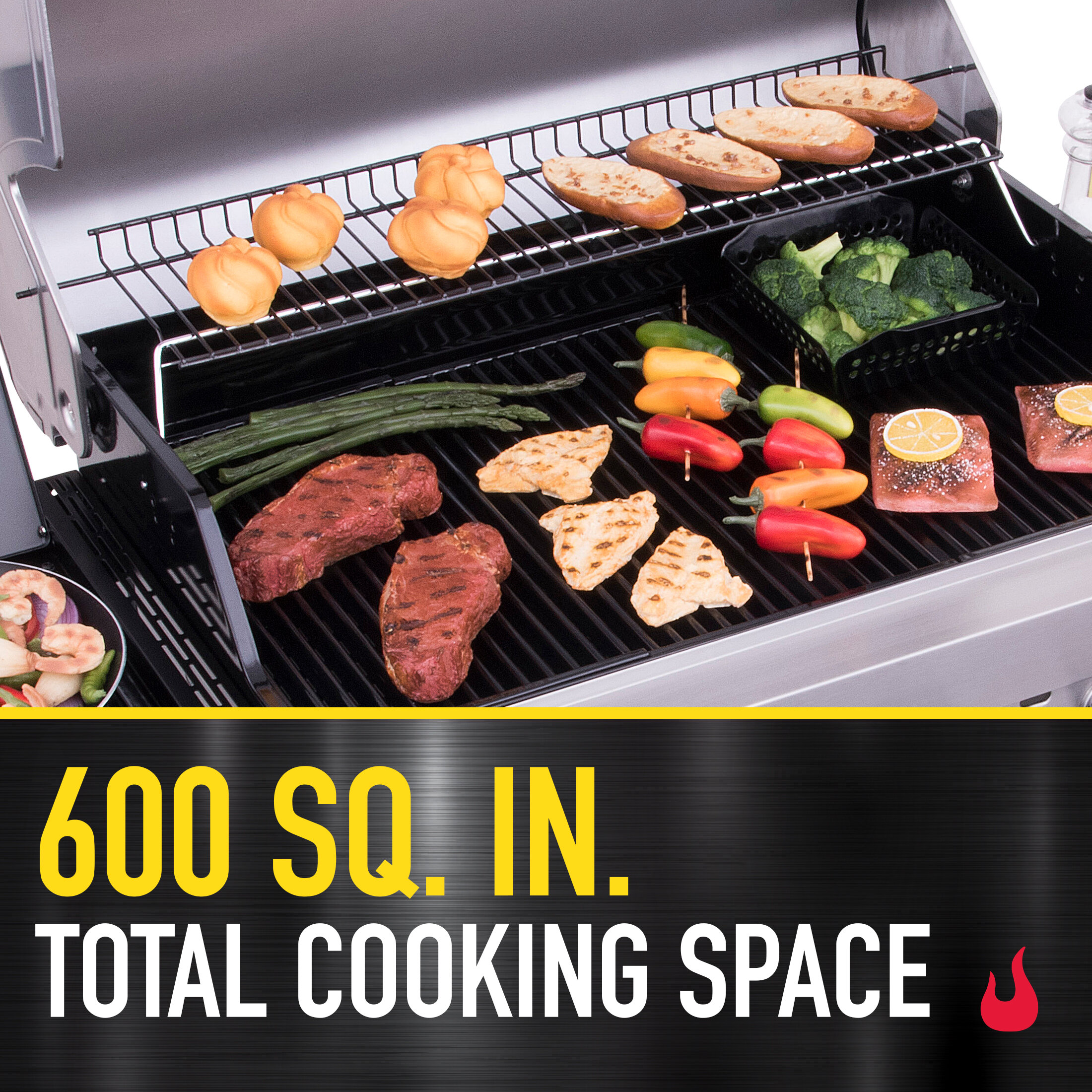 Total Cooking Space