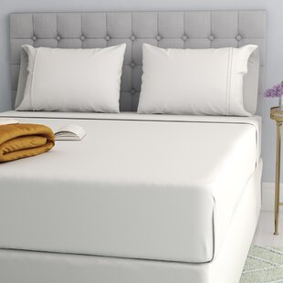 Compare prices Cavet Sateen Wrinkle Resistant 4 Piece 1200 Thread Count Sheet Set ByThe Twillery Co.