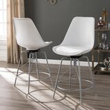 Glynis Bar & Counter Swivel Stool (Set of 2) by Latitude Run