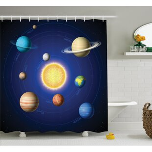Marley Solar System with Planets Single Shower Curtain