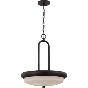 Latitude Run Burhill 3-Light Bowl Pendant