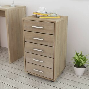Cecile 5 Drawer Filing Cabinet By Bloomsbury Market