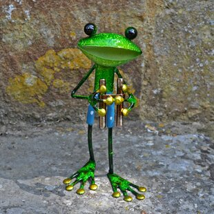 Buster Metal Frog With Binoculars Decorative Statue