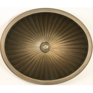 Coupon Bronze Metal Oval Drop-In Bathroom Sink By Linkasink