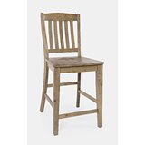 Bryon Solid Wood 24.25 Counter Stool (Set of 2) by Three Posts™