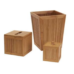 cream and brown bathroom accessories. Shaw 3 Piece Bathroom Accessory Set Bath Sets You ll Love