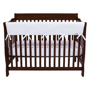 Order 51 White Fleece Front Crib Rail Cover By Trend Lab
