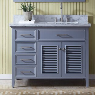 "Hamil Right Offset 43"" Single Bathroom Vanity with Mirror"