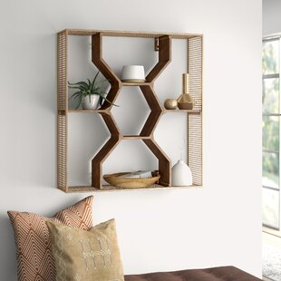 Find for Nicholas Wooden Honey Comb Floating Shelf ByMistana