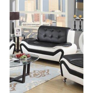 Priscila 2 Piece Leather Standard Living Room Set (Set of 2) by Orren Ellis