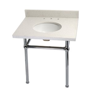 Best Templeton Ceramic 30 Console Bathroom Sink with Overflow ByKingston Brass