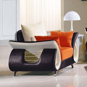 Boltz Leather Armchair by Orren Ellis
