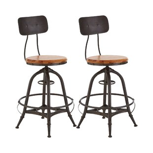 Schaff Height Adjustable Bar Stool (Set Of 2) By Borough Wharf