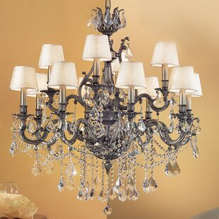 Classic Lighting Majestic Imperial 12-Light Shaded Chandelier