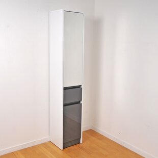 Slattery 35.2 X 191cm Mirrored Free-Standing Cabinet By 17 Stories
