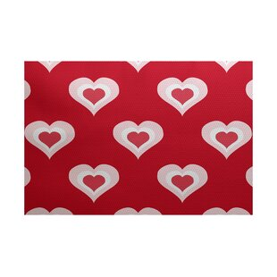 Valentine's Day Red Indoor/Outdoor Area Rug