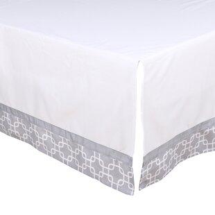 Geo Print Tailored Crib Dust Ruffle ByThe Peanut Shell