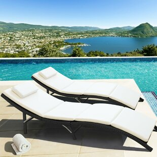 Wardell Outdoor Chaise Lounge with Cushion