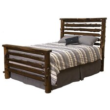 Modern Cedar Log Panel Bed by Fireside Lodge