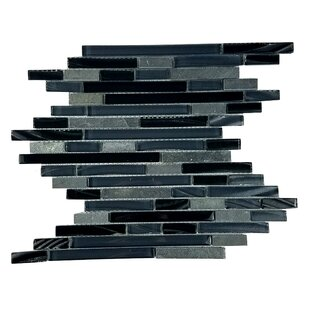 New Era Ii Random Sized Gl Mosaic Tile In Black Hole