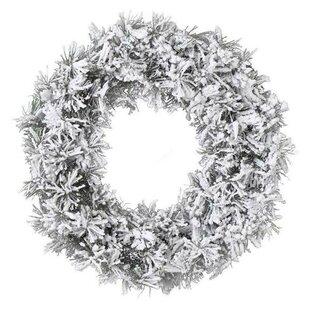 Snow Effect Christmas 50cm Artificial Wreath Image