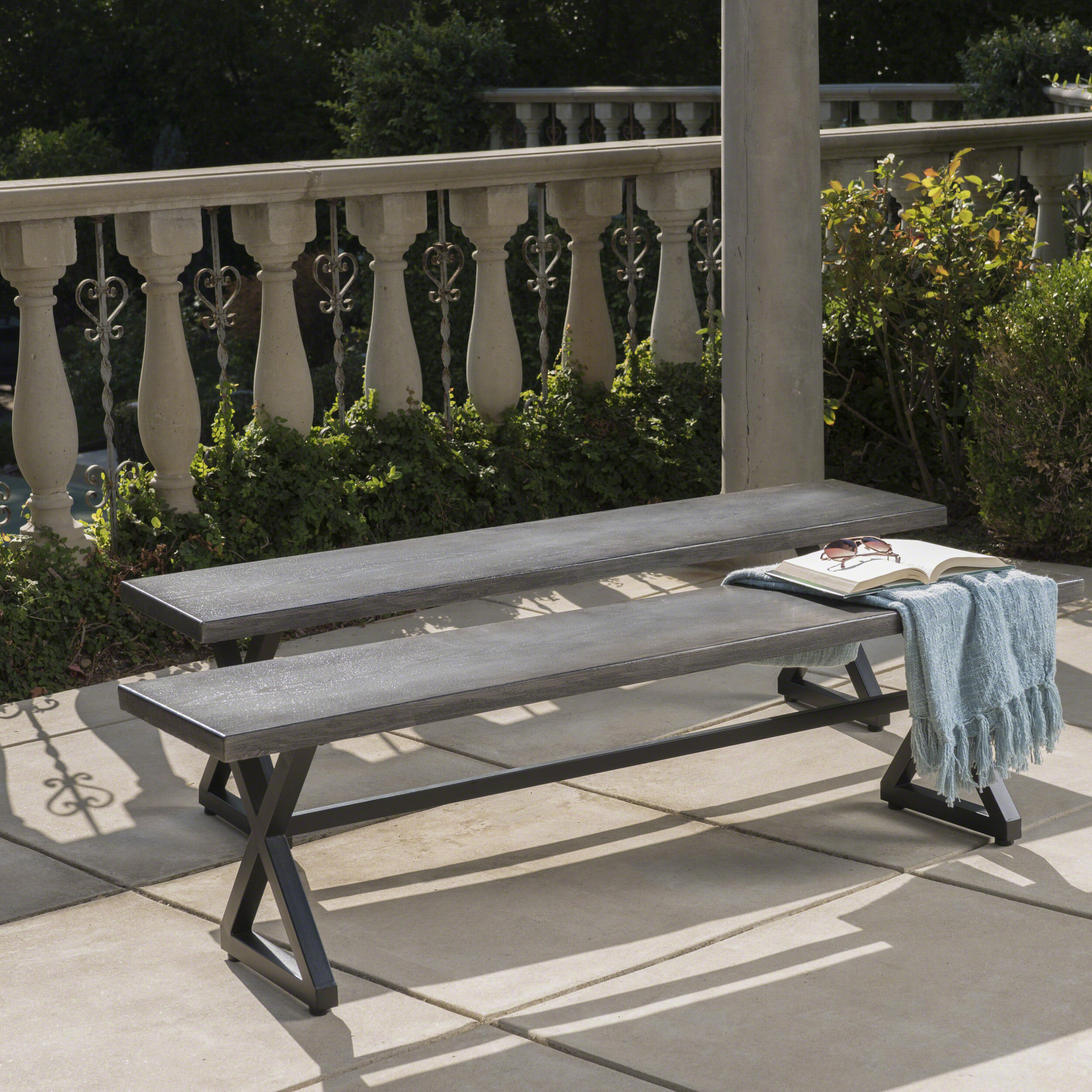 Pleasing Union Rustic Lal Outdoor Aluminum Picnic Bench Reviews Evergreenethics Interior Chair Design Evergreenethicsorg