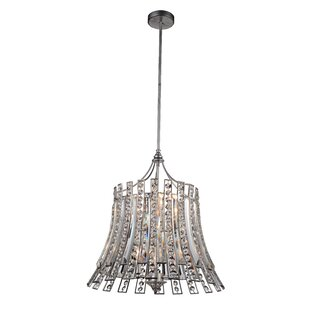 Nile 8-Light Crystal Chandelier by CWI Lighting