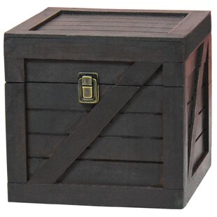 Sloan Wooden Stackable Lidded Crate Trunk by Breakwater Bay